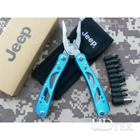 American Jeep blu color multifunctional combination pliers knife blue color UD06040